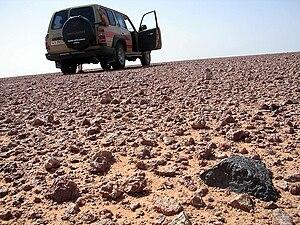 Meteorite hunting - Desert prospecting for meteorites