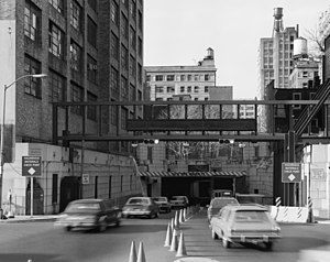 Holland Tunnel - Manhattan entrance to tunnel, 1985
