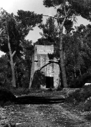 The Hunting Season - The Watch-Tower in Kiryat Anavim, which the Haganah used as a jail for Irgun kidnappees