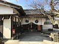 Haiden of Hiyoshi Shrine near Kurume Station.jpg