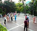 Haikou People's Park - people practicing t'ai chi ch'uan (tai chi) - 04.jpg