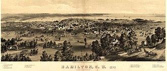 History of Hamilton, Ontario - Depiction of Hamilton in 1859.