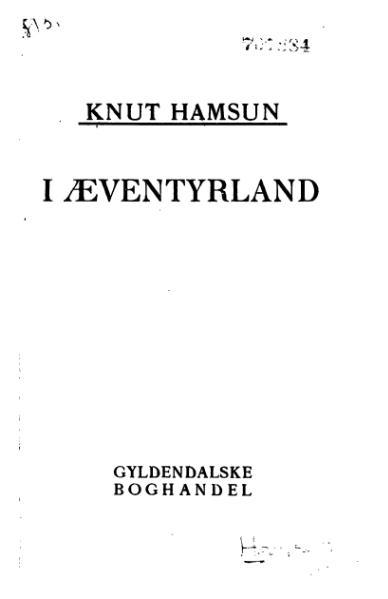 File:Hamsun - I Æventyrland.djvu