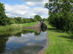 Droitwich Canal - One of the Hanbury locks