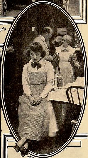William Courtright - Still from Hard Boiled (1919) with Dorothy Dalton and William Courtright and Gertrude Claire in the background