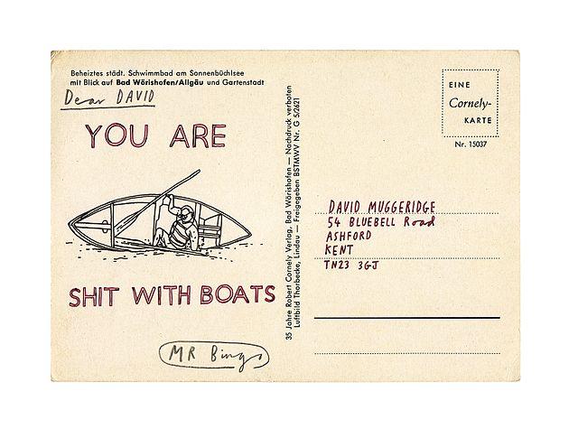 Hate Mail Postcard by Mr Bingo