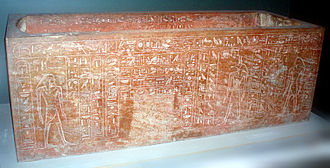 KV20 - One of the two sarcophagi found in KV20, originally intended for Hatshepsut, but re-inscribed for her father Thutmose I