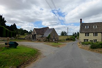 Hawkesbury, Gloucestershire - The centre of the hamlet