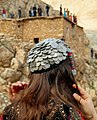 Hawraman female with traditional headdress.jpg