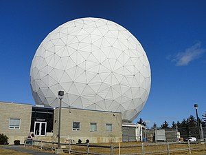 Haystack Observatory - Haystack radio telescope at the MIT Haystack Observatory, Westford, MA