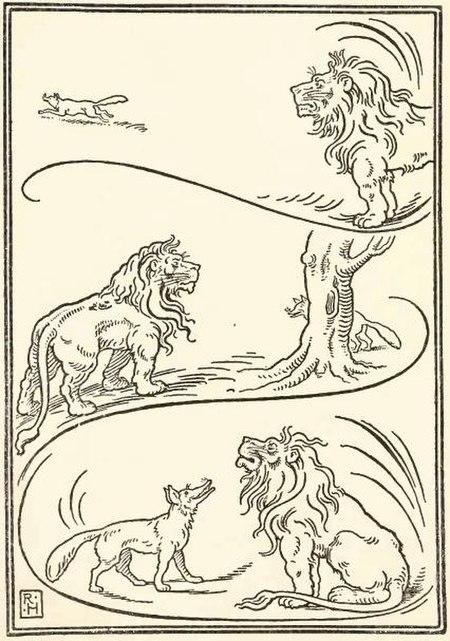 Rubah dan Singa