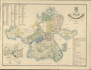 History of Helsinki - Map of Helsinki, 1837