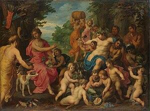 Hendrick van Balen -  Bacchus and Diana