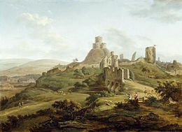 Hendrik Frans de Cort - Launceston Castle, Cornwall.jpg