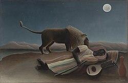 Henri Rousseau: Nukkuva mustalaisnainen