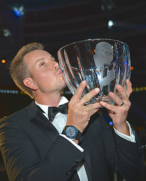 Radiosportens Jerringpris - Henrik Stenson winning the award of 2013 in January 2014