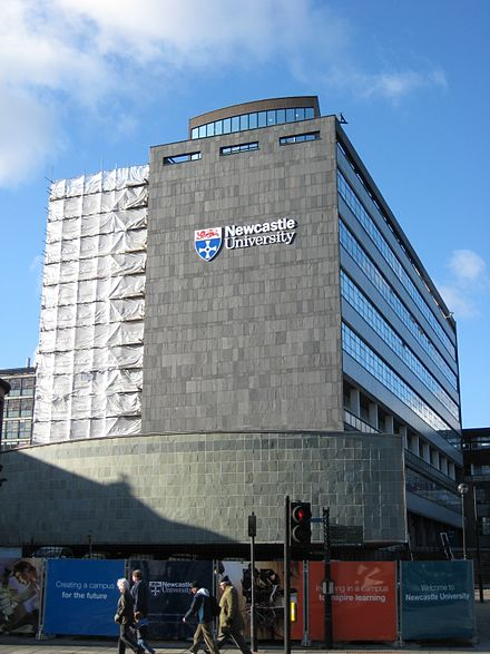 The Herschel Building, home to the School of Mathematics, Statistics and Physics, and several of the University's largest lecture theatres Herschelbuildingnewcastle.jpg