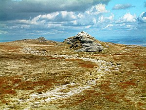South West England - High Willhays on Dartmoor, Devon, the region's highest point.