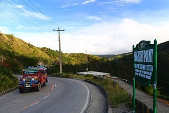 Atok, Benguet - Highest point in the Philippine Highway System marker along Halsema Highway
