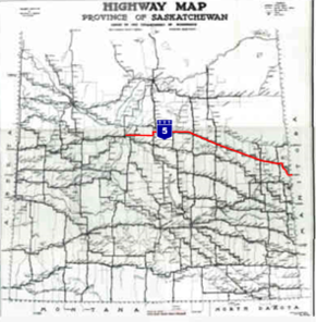 Sask Highway Map Saskatchewan Highway 5   Wikipedia