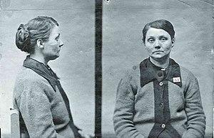 Hilda Nilsson - Police mugshots of Hilda Nilsson in 1917