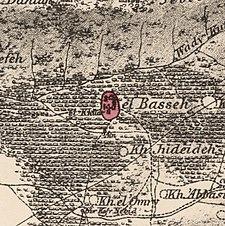 Historische kaartserie voor het gebied van al-Bassa (1870) .jpg