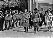 Adolf Hitler and Benito Mussolini during Hitler's visit to Venice from 14-16 June 1934.