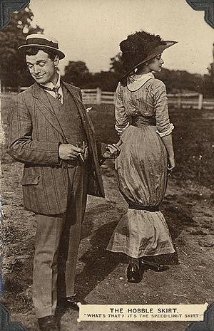 Hobble skirt - Image: Hobble Skirt Postcard