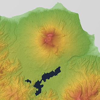 Hokkaido Koma-ga-take - Image: Hokkaido Komagatake Relief Map, SRTM 1