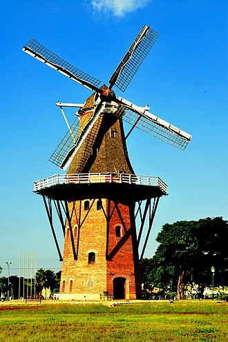 White Brazilians - A typical Dutch mill in Holambra.