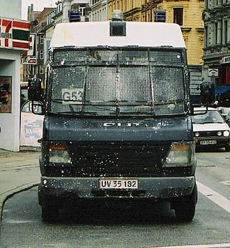 Rigspolitiet - A riot control vehicle from the City of Copenhagen Police