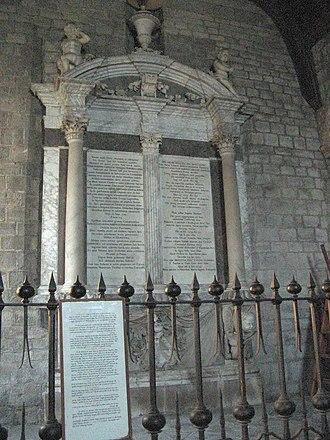 Church of the Holy Trinity, Newton St Loe - Tomb of Joseph Langton