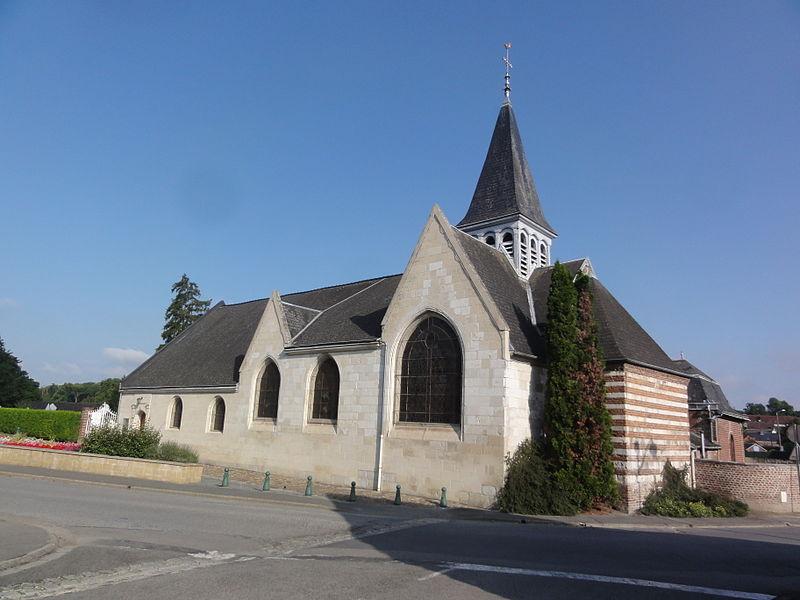 Homblières (Aisne) église