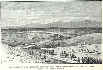 Battle of Chancellorsville - Troops on Hooker's right cross the Rappahannock