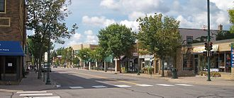 Hopkins, Minnesota - View of Mainstreet (the local spelling) in downtown Hopkins.