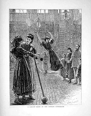 H. W. Patterson. A Ladies' Class at The German Gymnasium. 1872 Horace Harral. A Ladies Class Et The German Gymnasium.1872.jpg