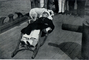 Battle of the Strait of Otranto (1917) - Horthy, seriously wounded, commanded the Austro-Hungarian fleet until falling unconscious.