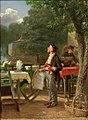 Hugo Kotschenreiter - Frühling im Biergarten, 1879.jpg