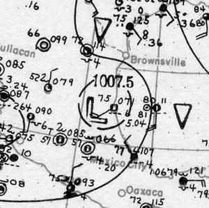 1921 Atlantic hurricane season - Image: Hurricane Two analysis 7 Sep 1921