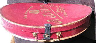 Opera hat - Image: Hutkarton von A. Köhlborm aus Minden in Westfalen 3