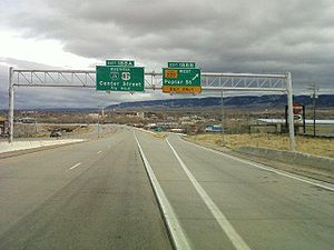 Wyoming Highway 220 - I-25 southbound Exit 188B - WYO 220 in Casper, WY