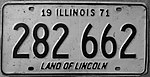 ILLINOIS 1971 LICENSE PLATE 282-662 - Flickr - woody1778a.jpg