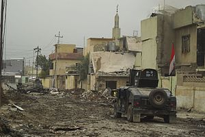 ISOF APC on the street of Mosul, Northern Iraq, Western Asia. 16 November, 2016.jpg