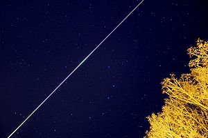 Satellite watching - Skytrack long duration exposure of the International Space Station