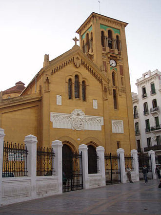 Religion in Morocco - A Roman Catholic Christian church in Tetouan, the former capital of the Spanish Protectorate of Morocco.