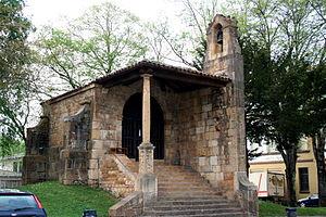 Santa Cruz de Cangas de Onís - The entrance to the chapel today