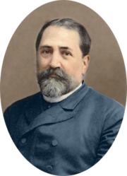 Ilia Chavchavadze by Alexander Roinashvili (digitally colorized illustration)