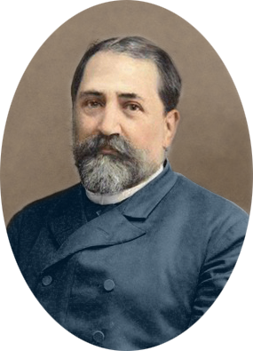 Ilia Chavchavadze by Alexander Roinashvili (digitally colorized)