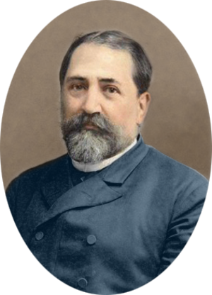 Ilia Chavchavadze - Ilia Chavchavadze by Alexander Roinashvili (digitally colorized illustration)