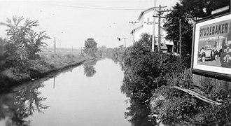 Illinois and Michigan Canal - a scene at Seneca, Illinois